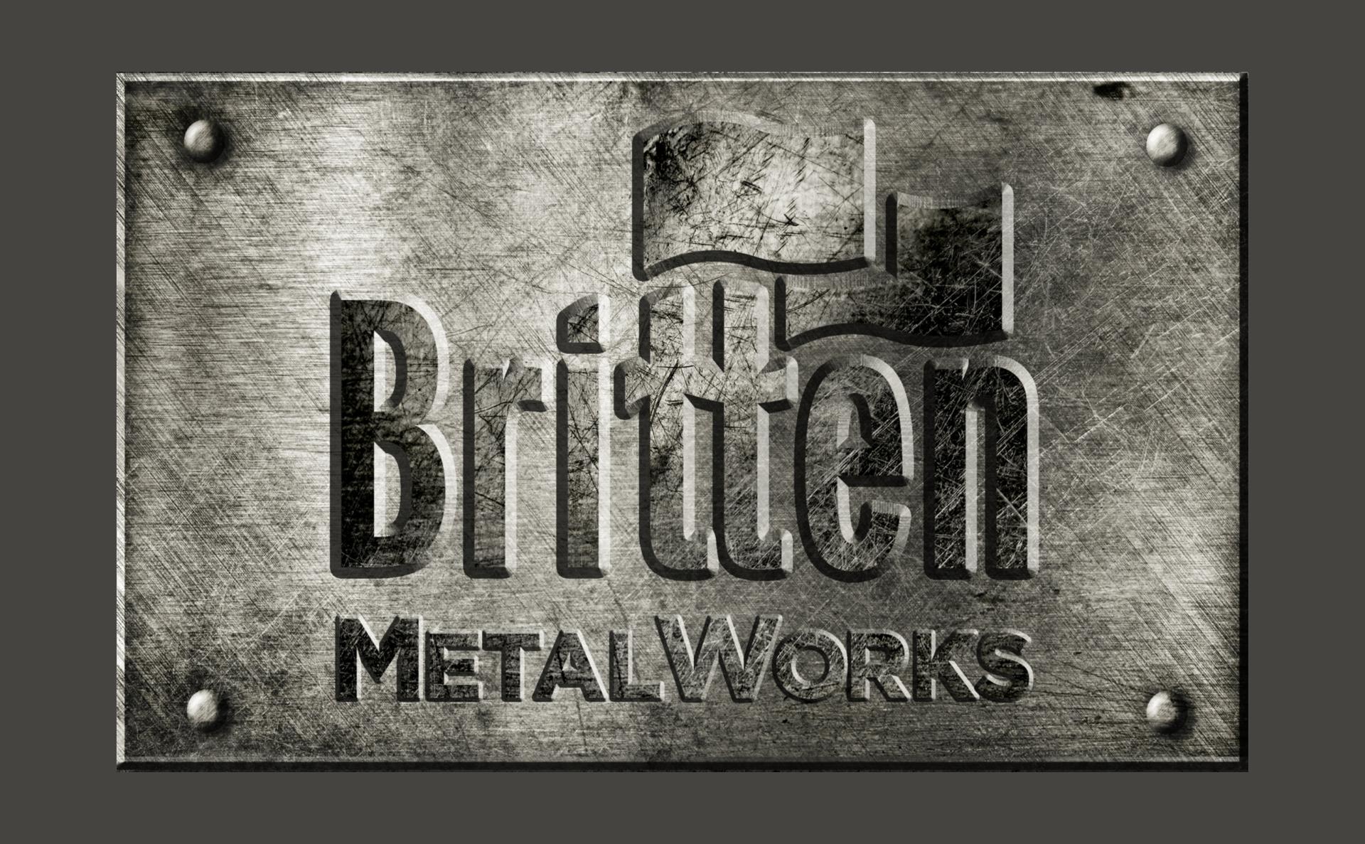 britten metalworks logo design
