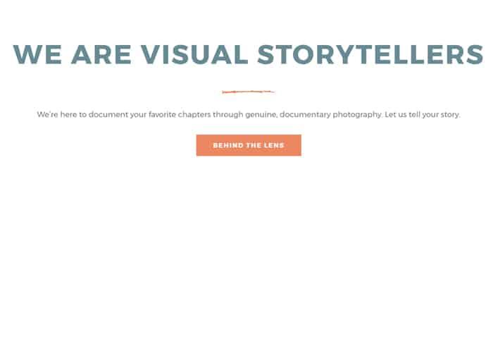 photographer website cta