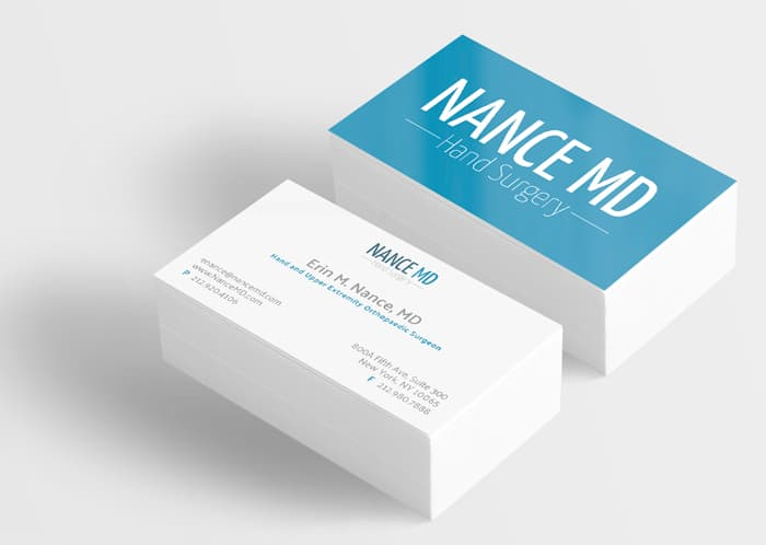 business cards for medical practice marketing