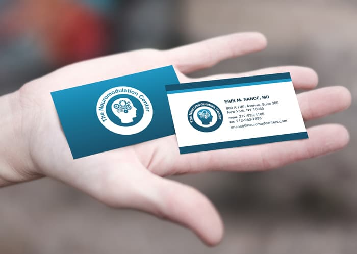 business cards medical practice marketing
