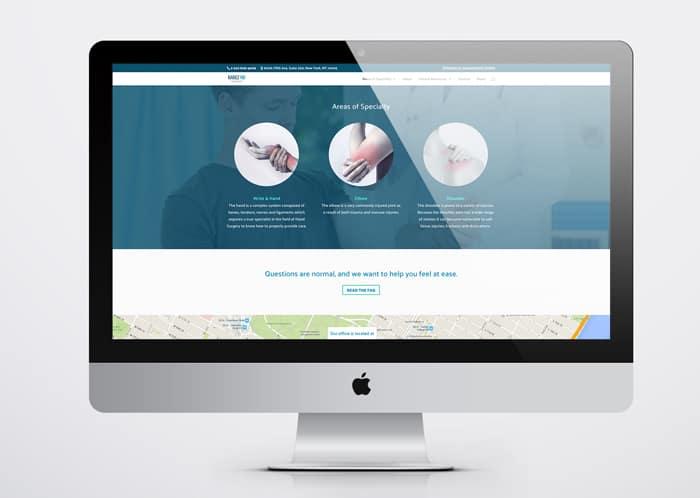 medical practice website screenshot