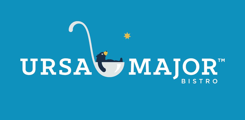 ursa major bistro logo by clockwork agency