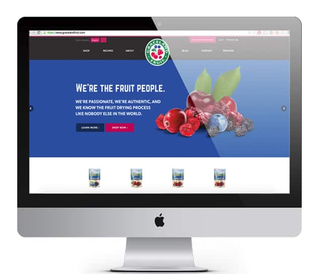website design graceland fruit