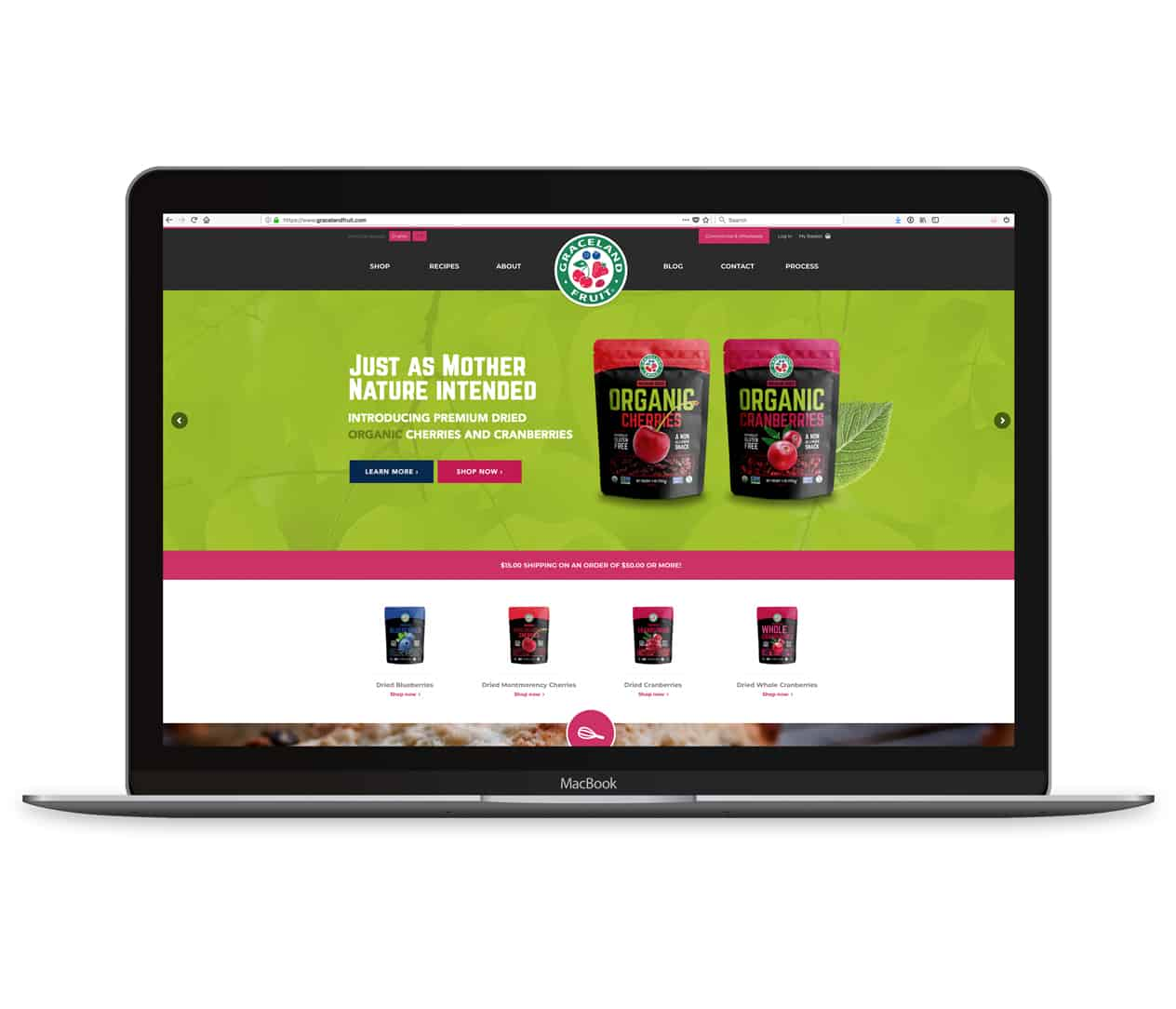 graceland fruit ecommerce website development