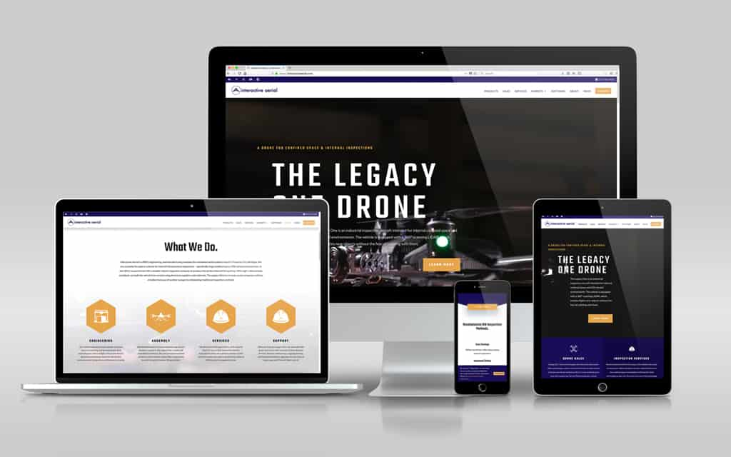 website development for interactive aerial